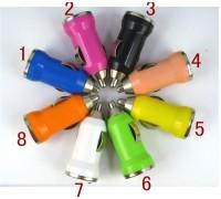 USB прикуриватель от 12V 1A 6 цветов